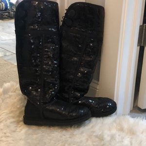Uggs Black Sequin Tall Boots